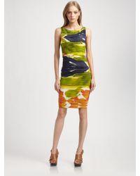 Alice + Olivia Valeri Ruched Silk Dress - Lyst
