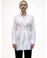Ann Demeulemeester Cotton Shirt - Lyst