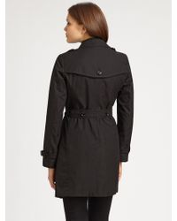 Burberry Brit - Warmer Detail Belted Trench Coat - Lyst
