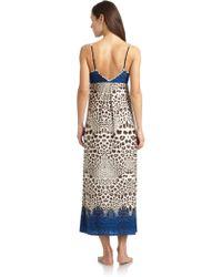 Nicole Miller - Snow Leopard Nightgown - Lyst