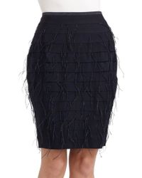 Sachin & Babi Lacey Tiered Feather Pencil Skirt - Lyst