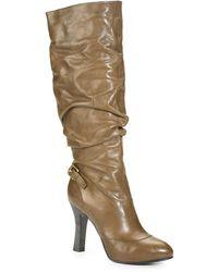 Sportmax | Scrunched Kneehigh Platform Boots | Lyst