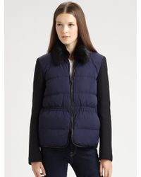 Theory Fur Trimmed Jacket - Lyst