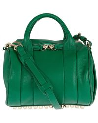 Alexander Wang Green Rockie Studded Pebble Leather Shoulder Bag - Lyst