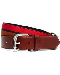 Brooks Brothers - Tabbed Leather Belt - Lyst
