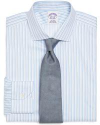 Brooks Brothers Supima Cotton Noniron Regular Fit Triple Stripe Luxury Dress Shirt - Lyst