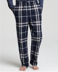 Burberry | Check Cotton Pj Pants | Lyst