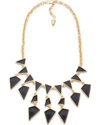 Kenneth Jay Lane Enamel Geo Drops Necklace - Lyst