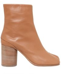 Maison Margiela 80mm Tabi Leather Boots - Lyst