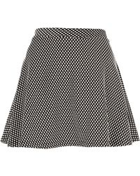 Topshop Textured Spotty Skater Skirt - Lyst