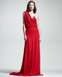 Wes Gordon Draped Chiffon Gown - Lyst