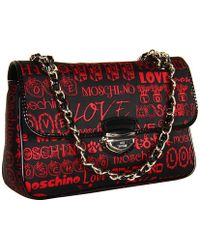 Love Moschino Typographic print shoulder bag - Lyst
