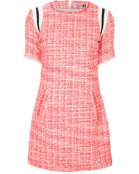 MSGM Tweed Dress - Lyst