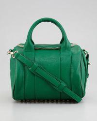 Alexander Wang Rockie Small Crossbody Satchel Bag Green - Lyst