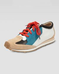 Elizabeth And James Colorblock Leather Sneaker blue - Lyst