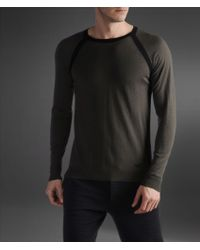 Emporio Armani Sweater in Wool and Cashmere - Lyst