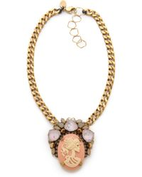Erickson Beamon Pretty in Punk Cameo Statement Necklace - Lyst