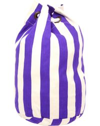 House of Holland - Striped Cotton Duffle Bag - Lyst