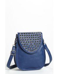 Natasha Couture Studded Flap Crossbody Bag - Lyst