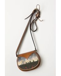 Anthropologie Handpainted Landscape Crossbody Bag - Lyst