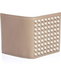 Christian Louboutin Paros Spiked Wallet - Lyst
