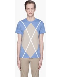 Kris Van Assche - Light Blue Diamond X T-shirt - Lyst
