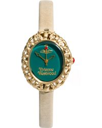 Vivienne Westwood Mini Leather Strap Watch Vv005Grgy - Lyst