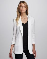 Textile Elizabeth and James - Heather Crepe Blazer - Lyst
