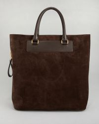 Tom Ford - Suede Sidezip Tote Bag - Lyst