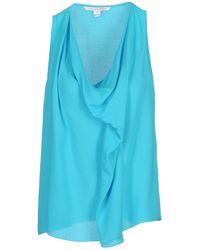 Diane von Furstenberg Top blue - Lyst