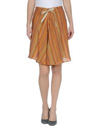 Mario Matteo Knee Length Skirt - Lyst
