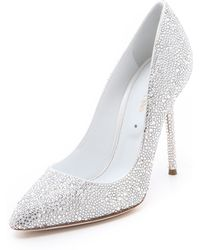 Sergio Rossi All Over Strass Pumps - Clear - Lyst