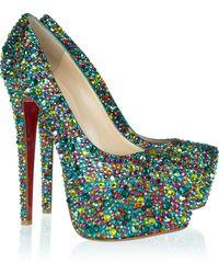 Christian Louboutin - Daffodile 160 Crystalembellished Leather Court Shoes - Lyst