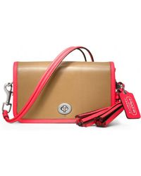 Coach Two Tone Leather Penny Shoulder Purse - Lyst