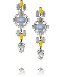 Erickson Beamon Swarovski Crystal Drop Earrings - Lyst