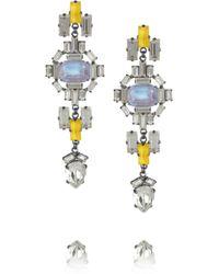Erickson Beamon Swarovski Crystal Drop Earrings yellow - Lyst