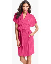 Lauren by Ralph Lauren Sleepwear Short Robe - Lyst