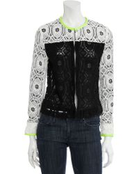 Scoop Lace Colorblock Jacket black - Lyst