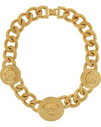 Versace Goldplated Chain Link Necklace - Lyst