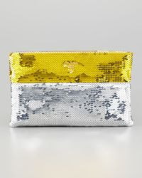 Prada Sequined Pouch Clutch - Lyst