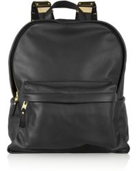 Sophie Hulme - Embellished Leather and Brass Backpack - Lyst
