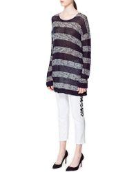 Zara Long Striped Sweater - Lyst