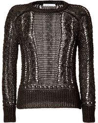 Chloé Dark Knit Top - Lyst