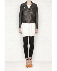 Acne Studios Acne Mape Leather Jacket - Lyst