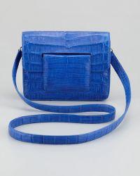 Nancy Gonzalez Front Flap Crocodile Crossbody Bag - Lyst