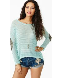 Nasty Gal Striped Patch Knit - Lyst