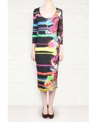 Preen By Thornton Bregazzi Preen Emilia Bloom Print Body Con Dress - Lyst
