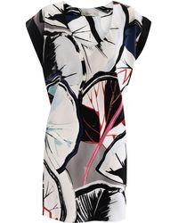 Balenciaga Gingkoprint Silk Dress - Lyst