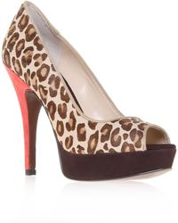 Enzo Angiolini - Peep Toe Leopard court shoes - Lyst