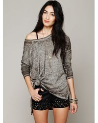 Free People Womens Super Soft Washed Pullover - Lyst